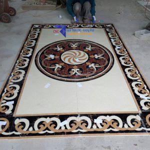 gạch thảm lát phòng khách đẹp